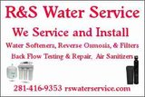 Home Water Softeners. Sell, Service, Installs in Bellaire, Texas