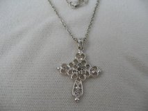 Cross Silver Cross with Crystals on Chain Dainty in Houston, Texas